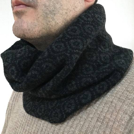 Mens Snood Mens Knitted Lambswool Snood Mens Knit Cowl Mens Etsy