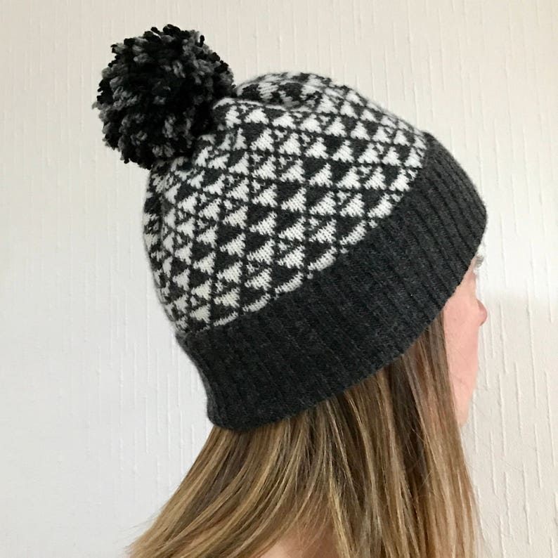 00dcba6b598de Lambswool knitted bobble hat winter hats ladies knitted