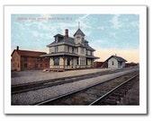 Train Railroad Station, Bound Brook, NJ Vintage Modern Postcard R145966
