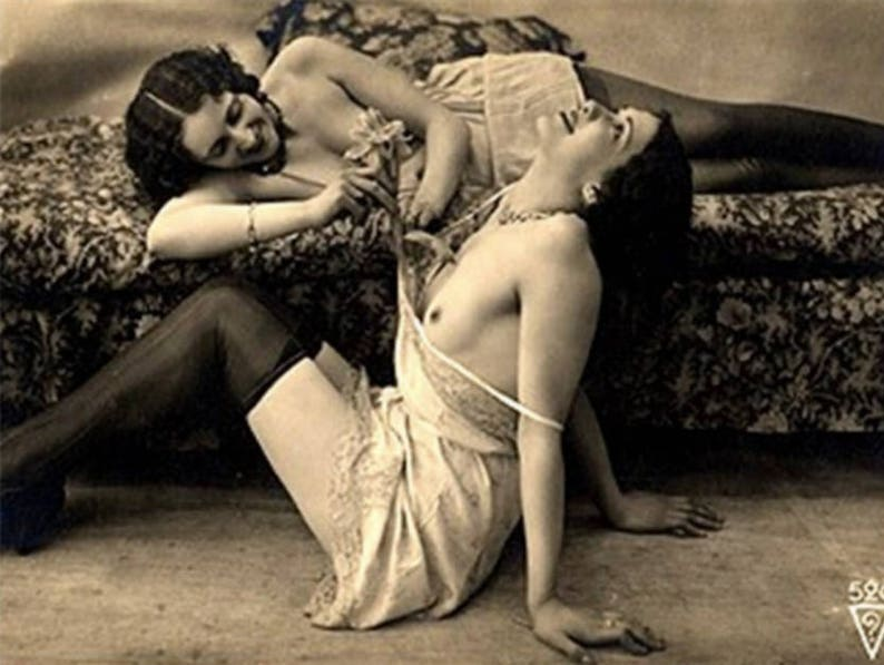 Antique French Risque Photo Nude Woman
