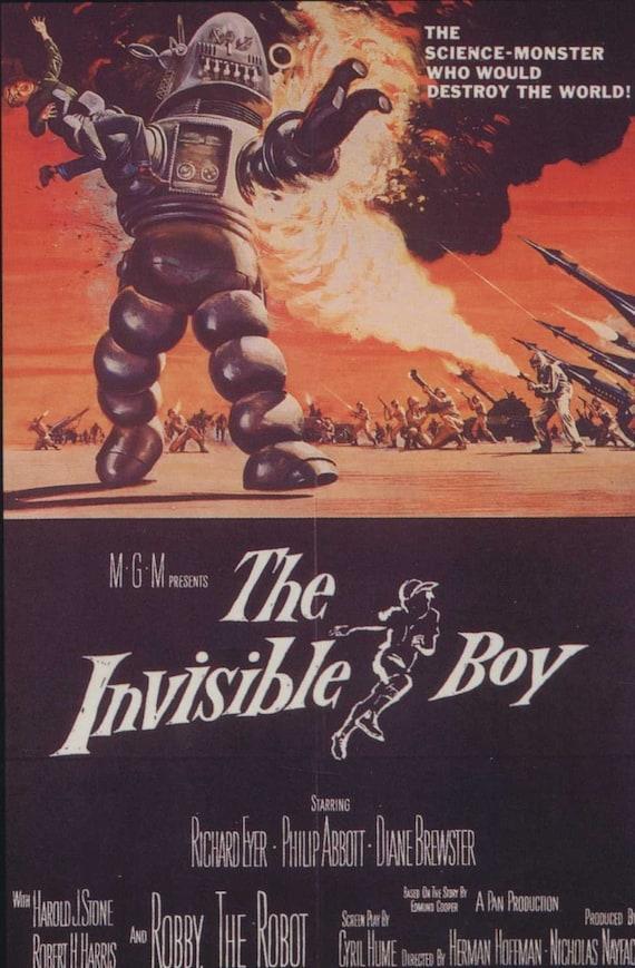 Film classique garçon Invisible Robby le Robot 1957 affiche | Etsy
