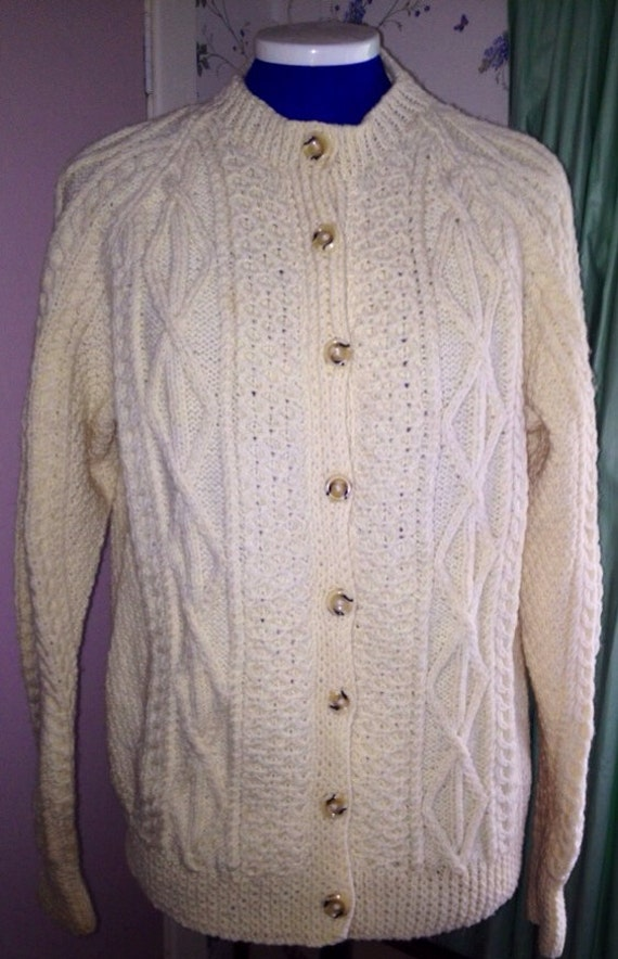 Vintage hand knit Aaron cardigan