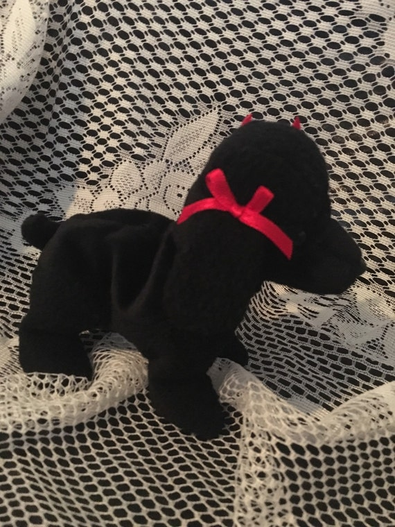 aee62ccd033 Vintage Retired TY Beanie Baby GiGi Black Poodle with 97 98