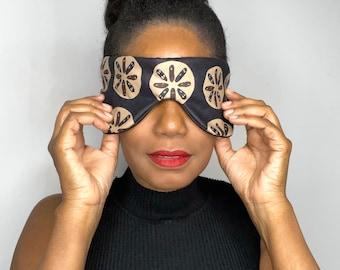 Handmade Bright African Print Sleep Eye Mask Blindfold Hen Stag Blackout Migraine