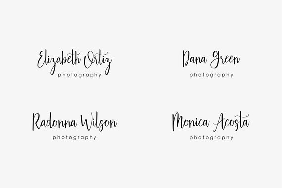 Premade Logo Photography Watermark Template Business