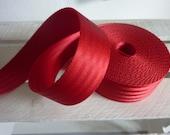 Car belt red 38 mm