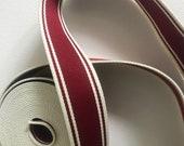 Webbing red beige striped...