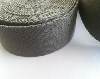 Webbing grey, width: 40 mm - 2.85 EUR / lfm