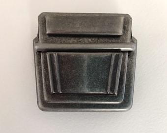 Folder closure / plug-in closure - 5 cm wide - black antique