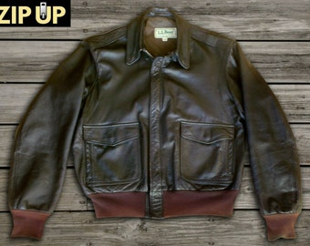d956c2b52 A2 leather jacket | Etsy