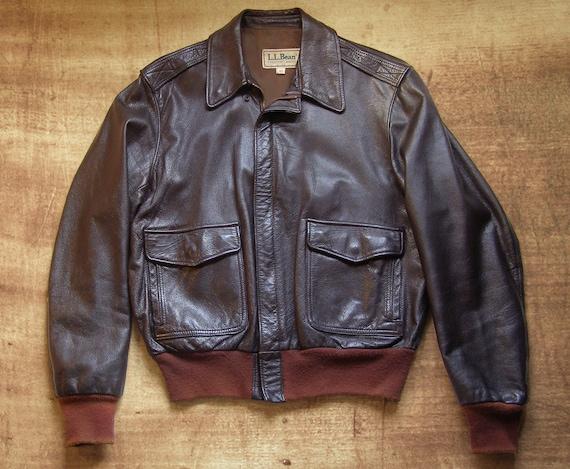 70's goatskin leather A2 flight jacket by LLBean