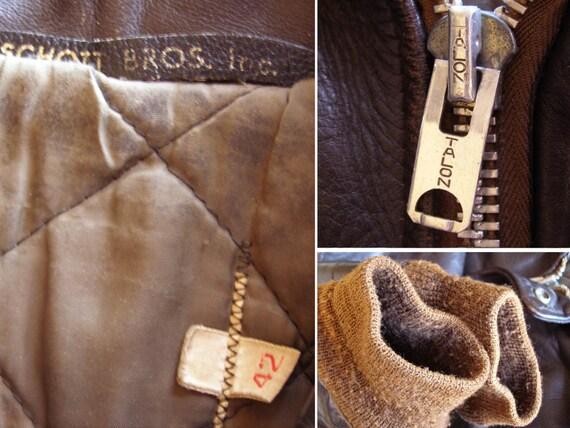 50s/60s steerhide leather 674 flight jacket - image 2