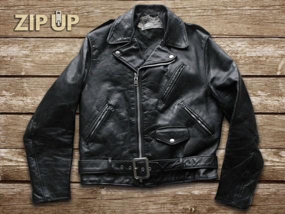 70's thick steerhide motorcycle jacket