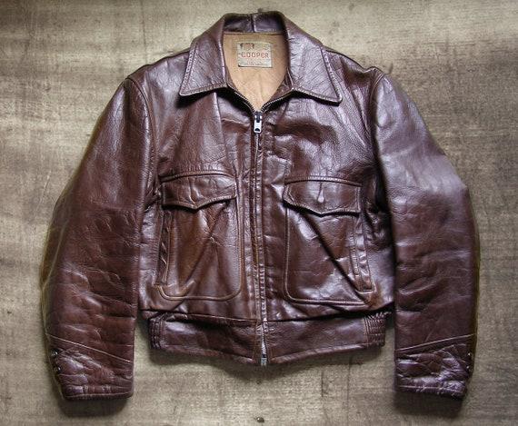 50s Cooper steerhide motorcycle jacket