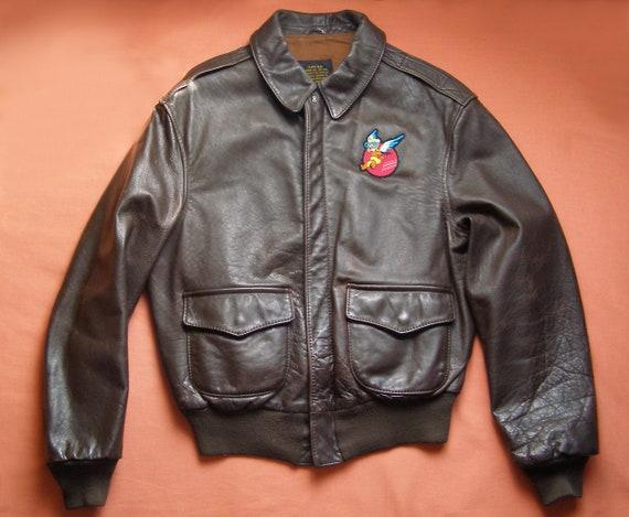 70s military A2 flight jacket  by Avirex