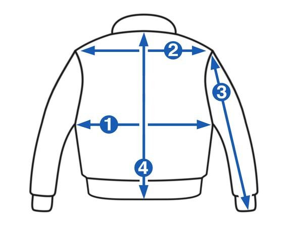 50s/60s steerhide leather 674 flight jacket - image 5