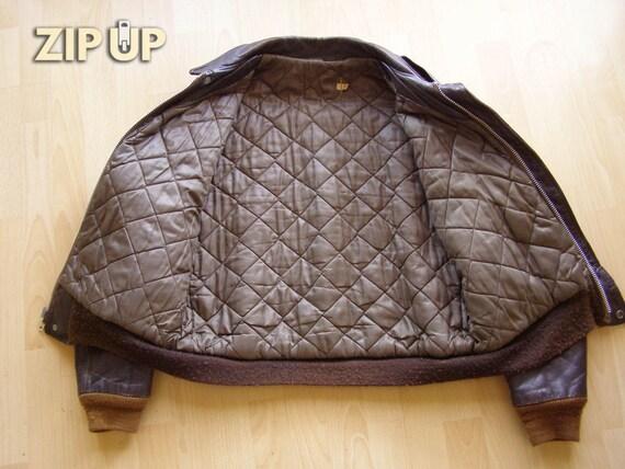 50s/60s steerhide leather 674 flight jacket - image 4