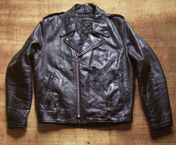 RARE Leather Unisex 1970s AMF Harley Davidson Biker Jacket Sz M