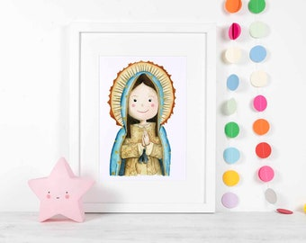 Our Lady of Guadalupe, Virgin Mary Art, Virgin Mary Shrine, Virgin Mary Decor, Guadalupe, Virgin Mary, Catholic Art, Virgin Mary Decor