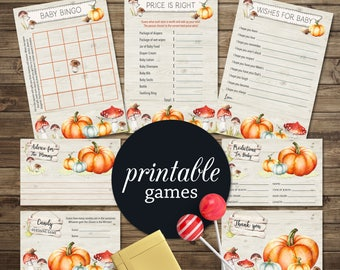 Woodland Baby Shower Games Fall baby shower games Printable