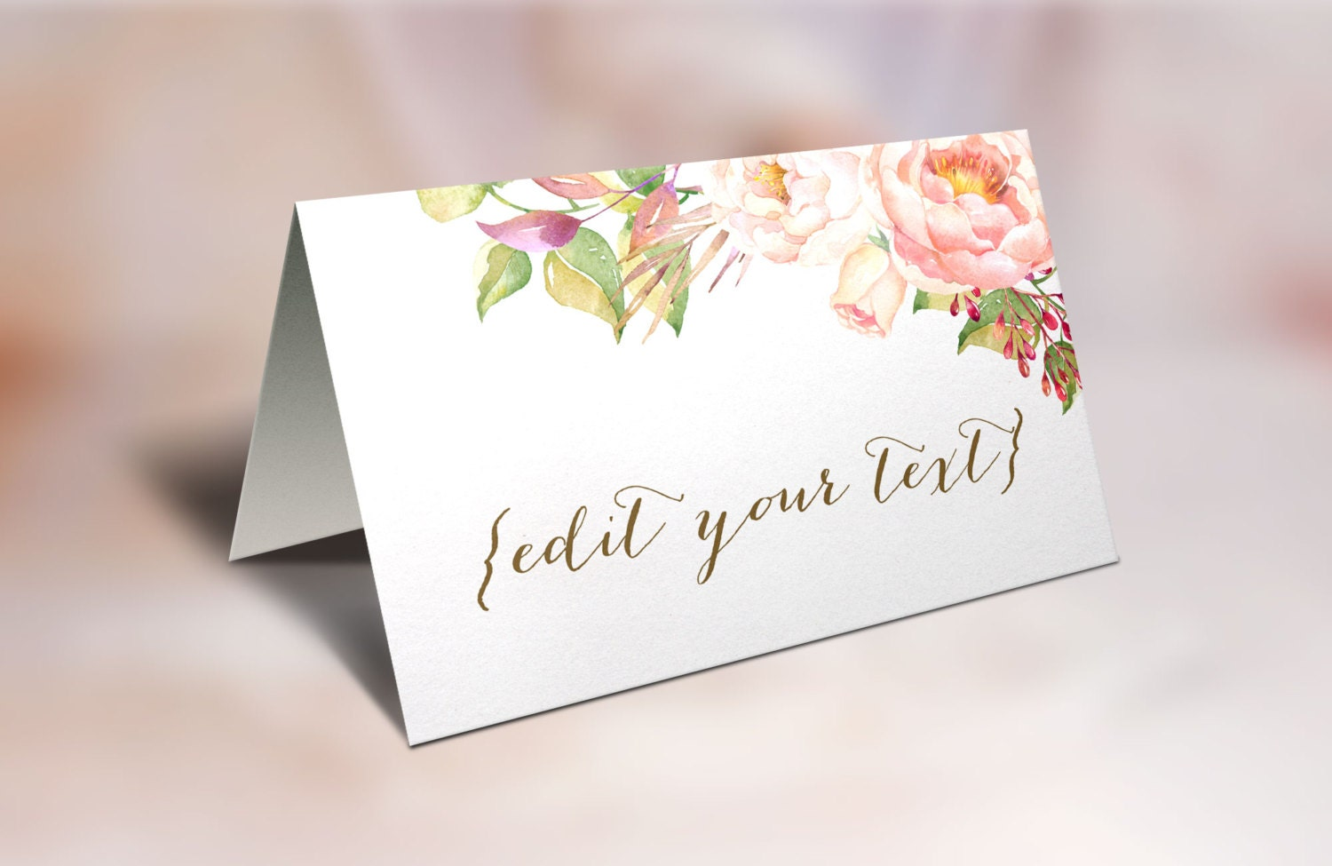 Simplicity image inside place cards printable