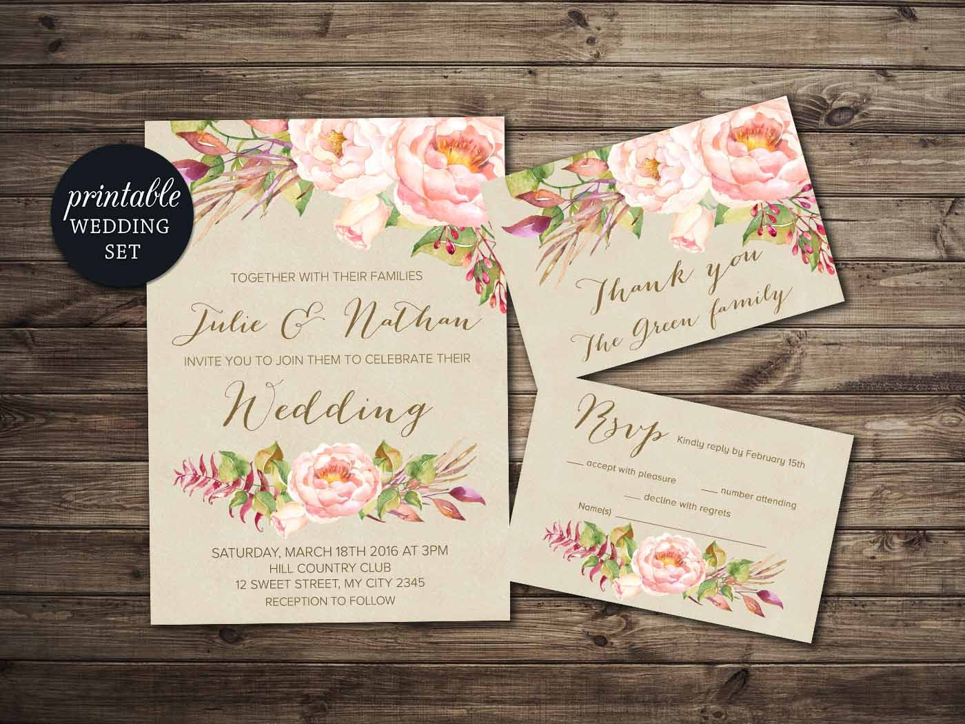 It's just a photo of Sizzling Etsy Wedding Invitations Printable
