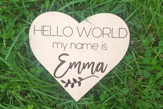 Hello WorldMy Name is Birth Announcement  Baby Name Announcement  Baby Shower Gift  Hospital Announcement  Newborn Photo Prop