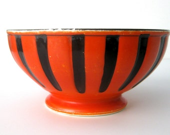 Vintage French Porcelain Hand-Painted Bowl