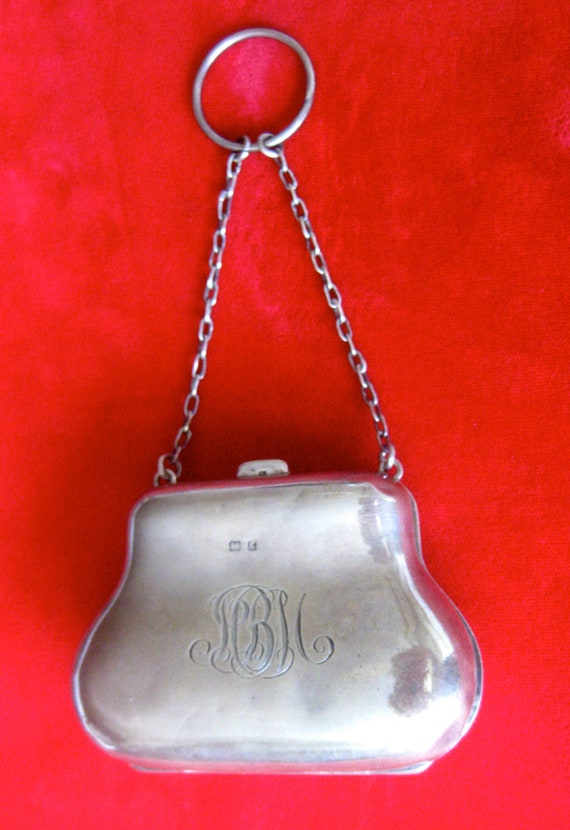 Victorian Sterling Silver Coin Purse With Original