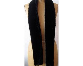 Black Faux Fur Scarf - Warm Faux Fur Scarf - Soft Faux Fur Scarf - Luxurious Faux Fur Scarf - La Femme Fatale - Le Beau Cou Scarves