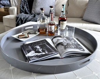 Phenomenal 20 To 40 Navy Round Extra Large Ottoman Tray Etsy Alphanode Cool Chair Designs And Ideas Alphanodeonline