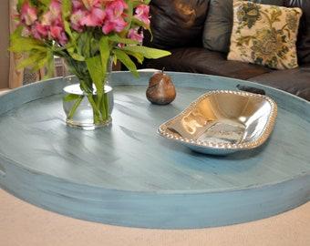 Pleasant Ready To Ship 28 Turquoise Distressed Octagon Ottoman Etsy Uwap Interior Chair Design Uwaporg