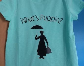 Custom Mary Poppins shirt. Any size,  any color.