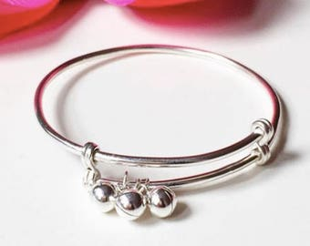 Baby Anklets- Sterling Silver Adjustable Baby/Toddler Anklets- Silver Toddler Jewelry