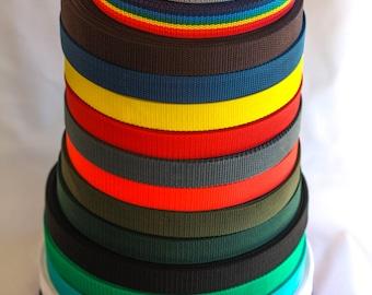 1 inch Nylon webbing, Key fob webbing for wristlet key chain, Dog leash and dog collar nylon webbing