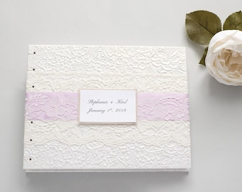 Personalized Guest Book, Floral Guest Book, Wedding Guest Book, 7x9, Custom Wedding Guestbook, Guest Book Wedding, MADE to ORDER