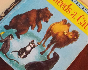 Collectable Retro My Little Golden Book 'Who Needs a Cat?' 1974
