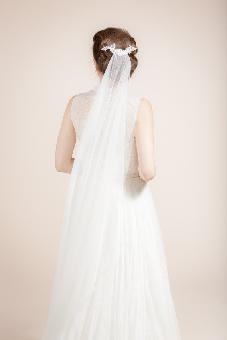 8035c0832b Wedding veil bridal dotted veil swiss dot veil with