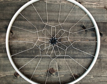 Bicycle wall sculpture art | Beatriz Wall Mandala | Silver & Black | gift for cyclist | FAST + FREE SHIPPING!