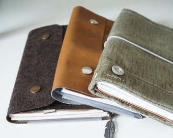 Handmade notebooks different versions
