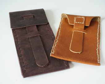 Leather case handmade different finishes