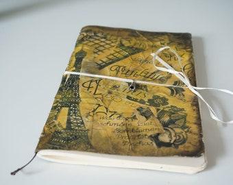 """Handmade Notebook Journal """" Paris """""""