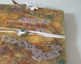 "Handmade Notebook Journal "" Life is Beautiful """