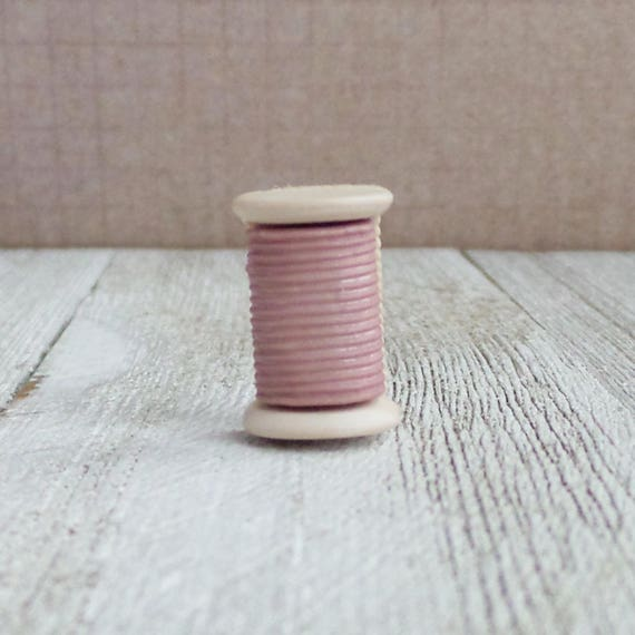 Thread spool brooch