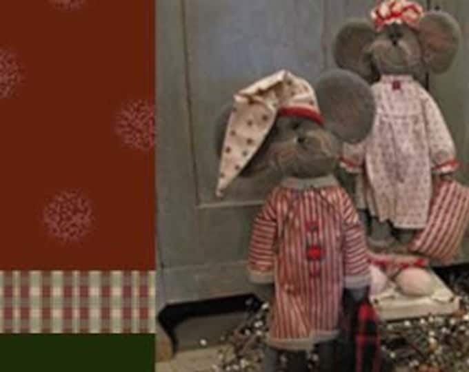 "Featured listing image: Doll KIT Set/2 : Courtney & Cornelius - 19"" Mice - Christmas"