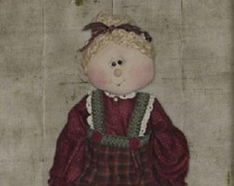 "Pattern: Nora - 21"" Raggedy Mrs Claus"