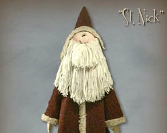 "Pattern: St Nick - 42"" Santa"
