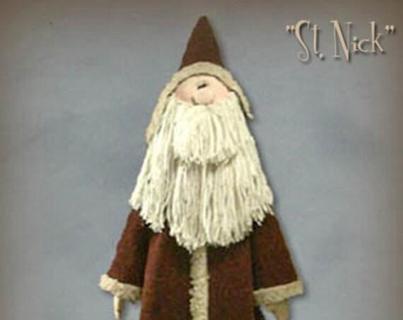 "Pattern: St Nick - 42"" Santa"