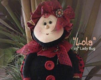 """Doll Kit: """"Lola"""" - 19"""" Lady Bug"""