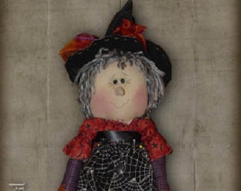 "Pattern: Wendy - 16"" Witch  Rag Doll"